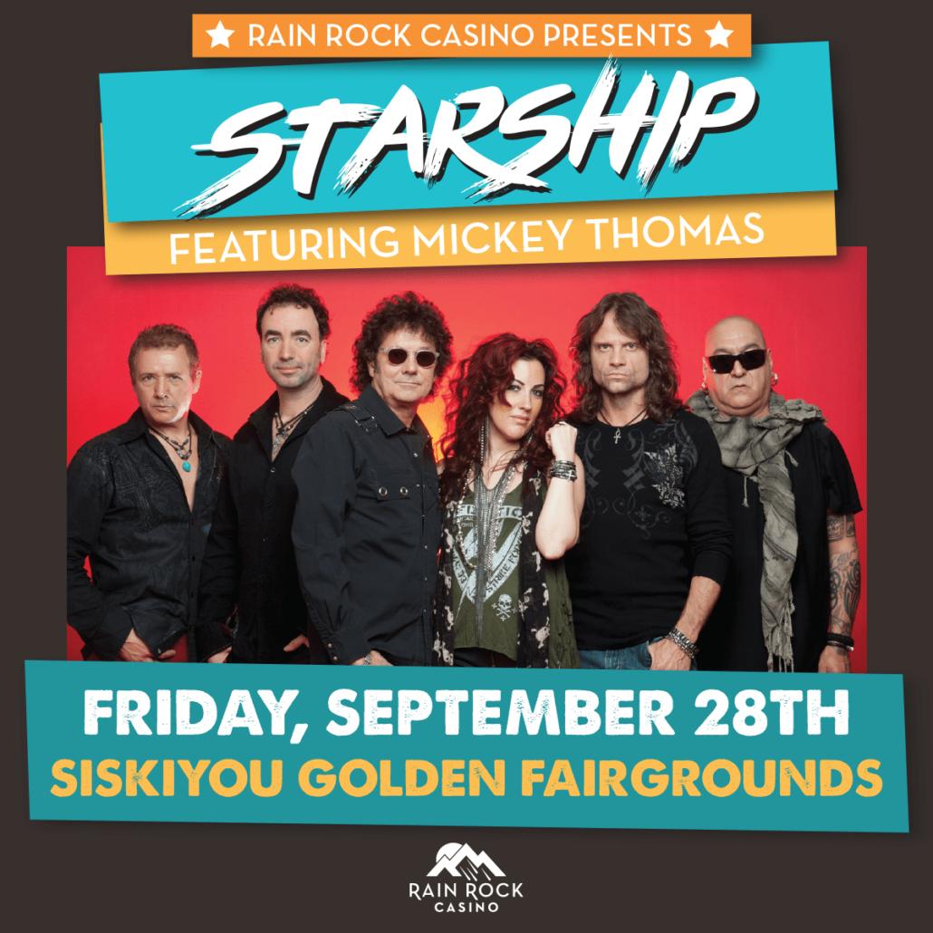 Rain Rock Casino Presents Starship Featuring Mickey Thomas