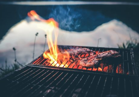 Grilling Meat, Fire, Siskiyou