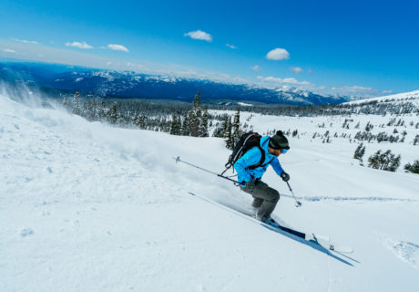 Skiing on Mt. Shasta